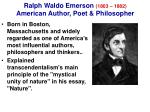 ralph waldo emerson 1803 1882 american author poet philosopher