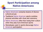 sport participation among native americans
