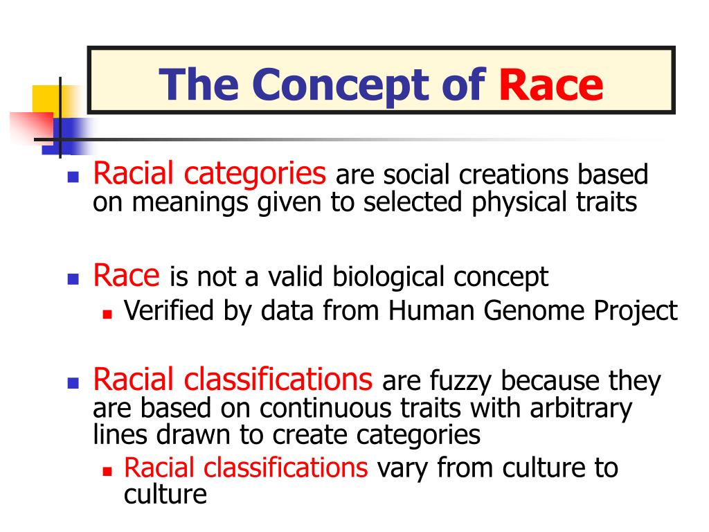 concept of race of as a societys creation