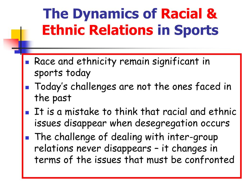 racial and ethnic issues