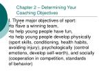 chapter 2 determining your coaching objectives