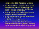 imposing the reserve clause