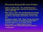 measuring marginal revenue product