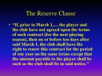 the reserve clause