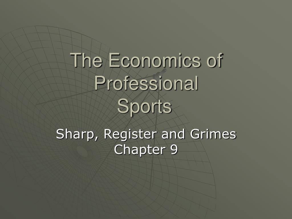 the economics of professional sports l.