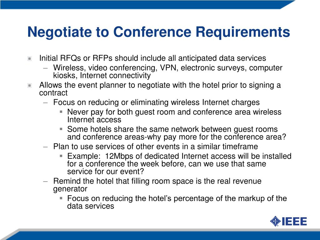 Negotiate to Conference Requirements