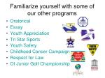 familiarize yourself with some of our other programs