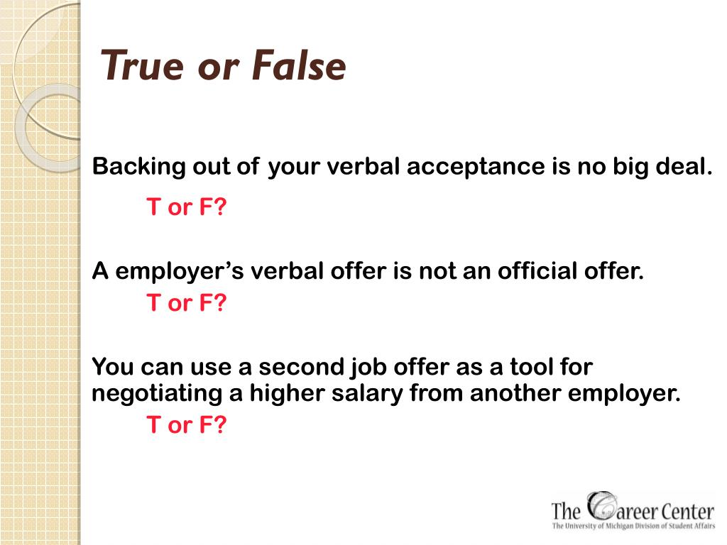 PPT - Sealing the Deal: Salary and Benefits Negotiations for