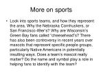 more on sports