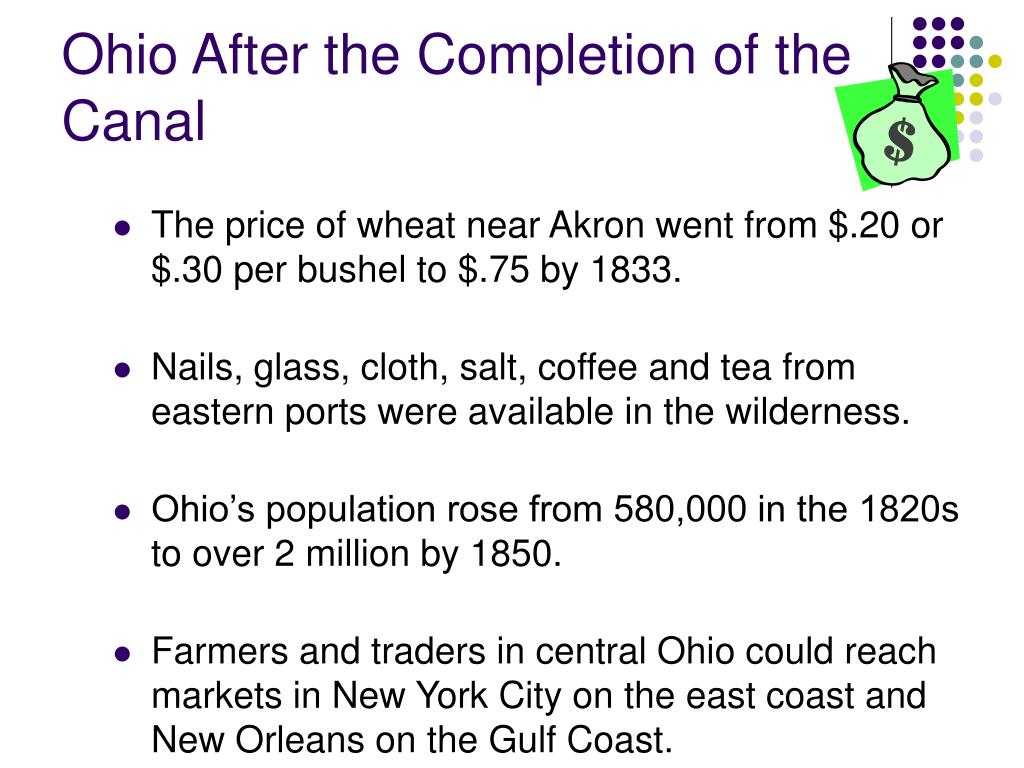 Ohio After the Completion of the Canal