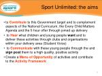 sport unlimited the aims