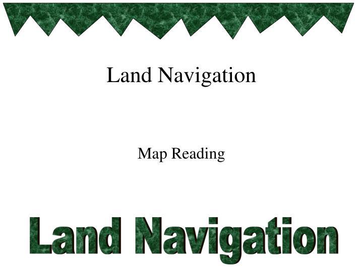 land navigation n.