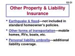 other property liability insurance
