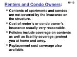 renters and condo owners