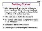 settling claims