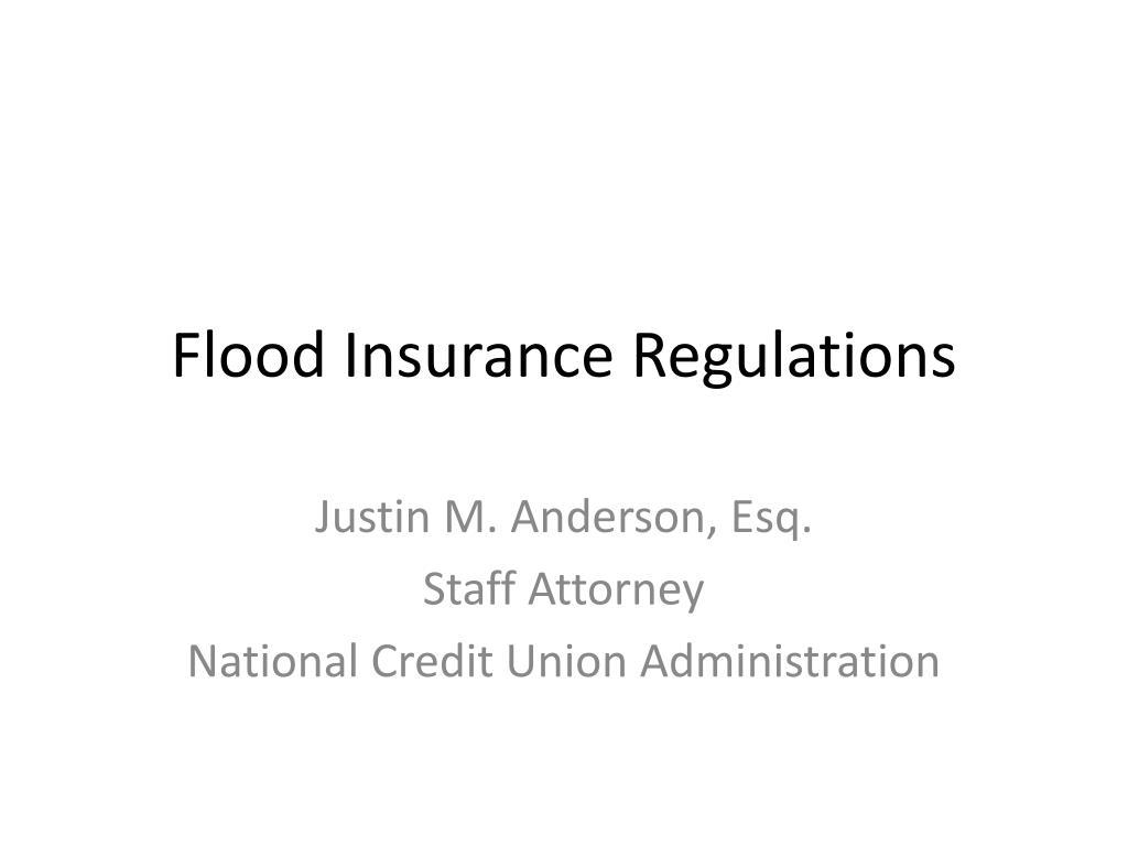 flood insurance regulations l.