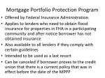 mortgage portfolio protection program