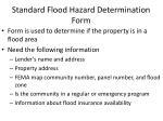 standard flood hazard determination form