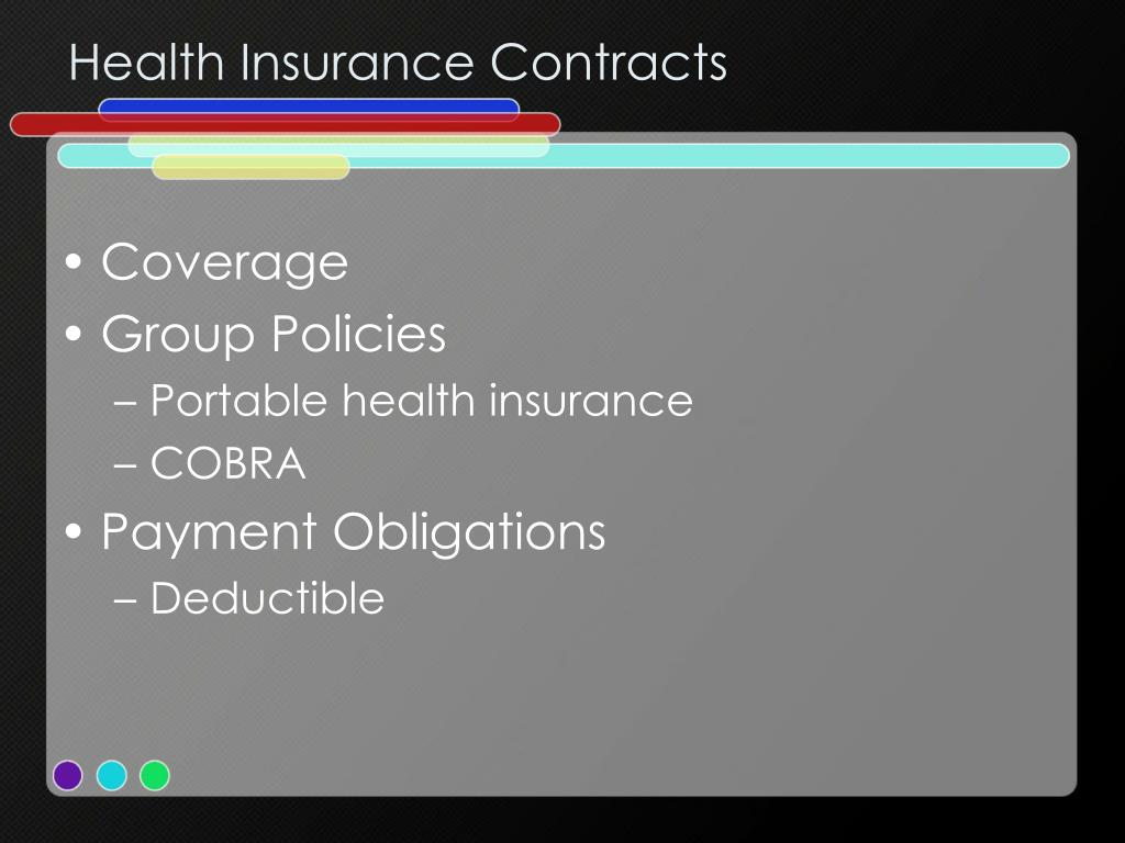 Health Insurance Contracts
