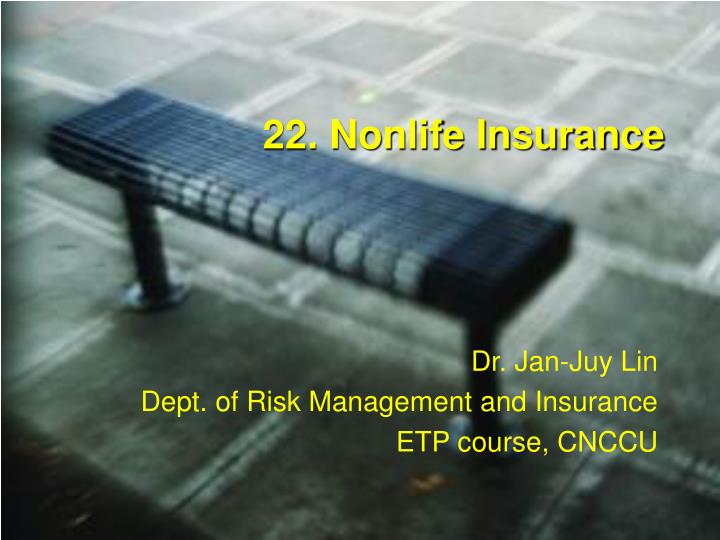 22 nonlife insurance n.