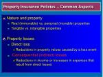 property insurance policies common aspects