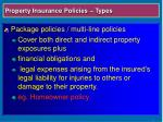 property insurance policies types