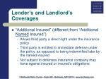 lender s and landlord s coverages