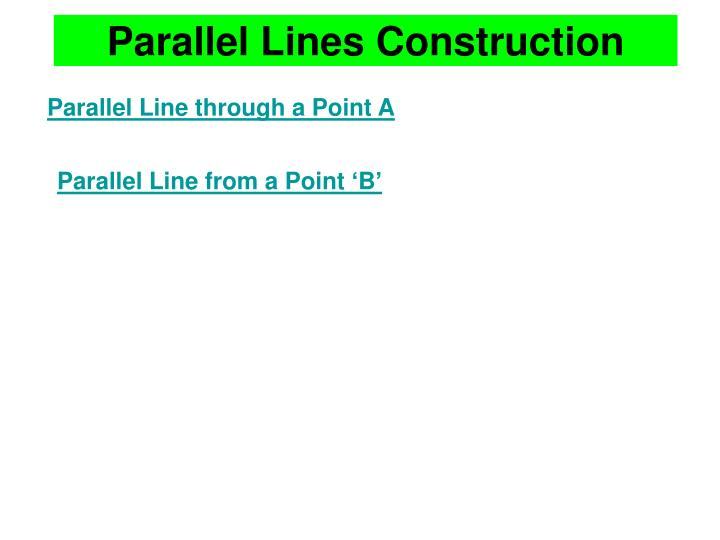 parallel lines construction n.