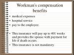 workman s compensation benefits