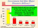 government aid after major disasters billions