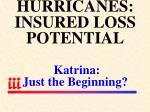 hurricanes insured loss potential katrina just the beginning