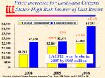 price increases for louisiana citizens state s high risk insurer of last resort