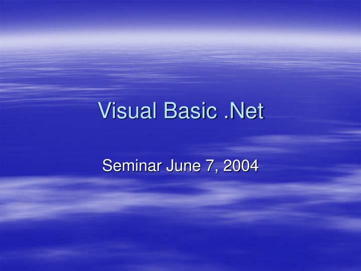 visual basic net n.