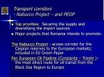 transport corridors nabucco project and peop