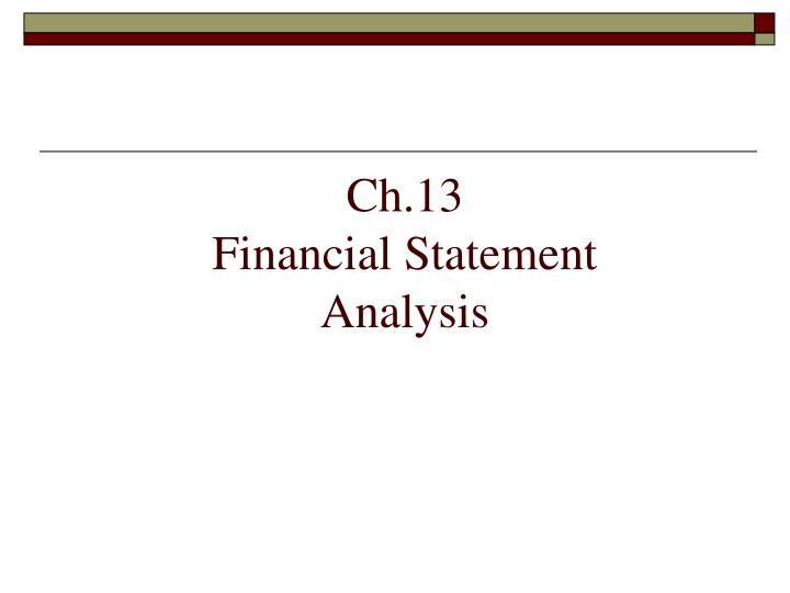 ch 13 financial statement analysis n.