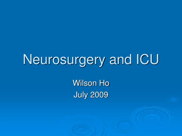 neurosurgery and icu n.