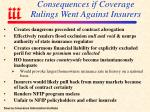consequences if coverage rulings went against insurers