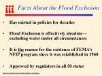 facts about the flood exclusion