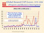 global insured cat losses 1970 2004 property and business interruption