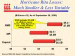 hurricane rita losses much smaller less variable