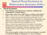typical flood exclusion in homeowners insurance policy