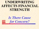 underwriting affects financial strength is there cause for concern