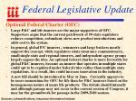 federal legislative update107