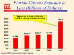 florida citizens exposure to loss billions of dollars