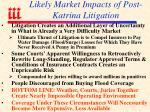 likely market impacts of post katrina litigation