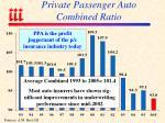 private passenger auto combined ratio