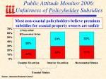 public attitude monitor 2006 unfairness of policyholder subsidies