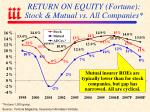 return on equity fortune stock mutual vs all companies