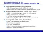 historical context for hb 1a hurricane preparedness and property insurance bill
