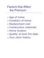 factors that affect the premium
